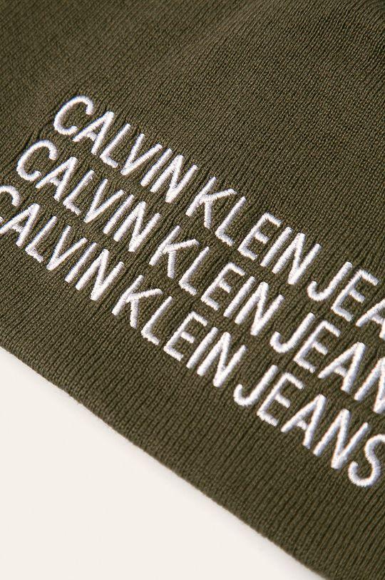 Calvin Klein Jeans - Čepice tlumená zelená