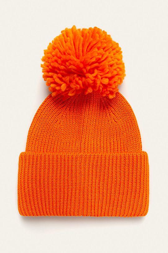 oranžová Pieces - Čepice Dámský