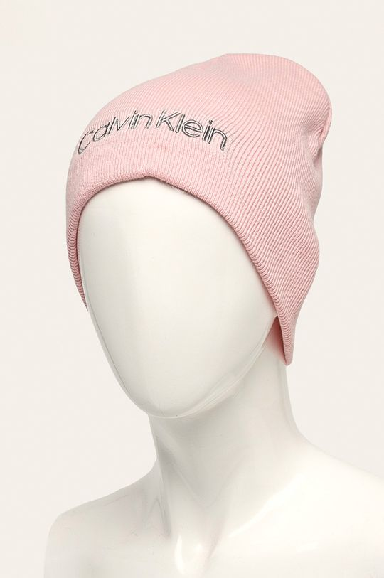 Calvin Klein Jeans - Čepice pastelově růžová