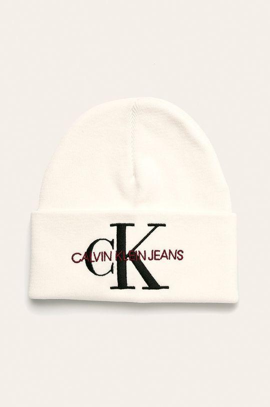biela Calvin Klein Jeans - Čiapka Dámsky
