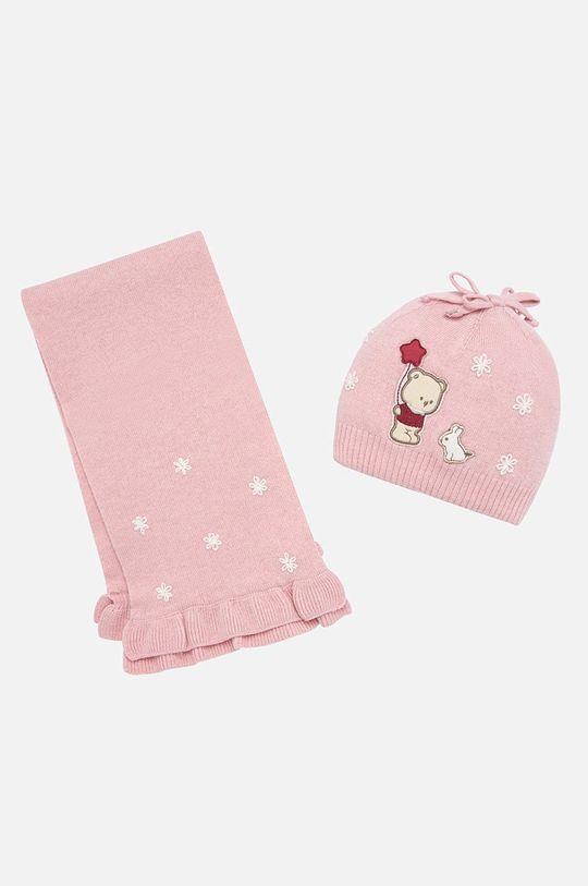 розов Mayoral - Детска шапка и шал 80-92 cm Момиче
