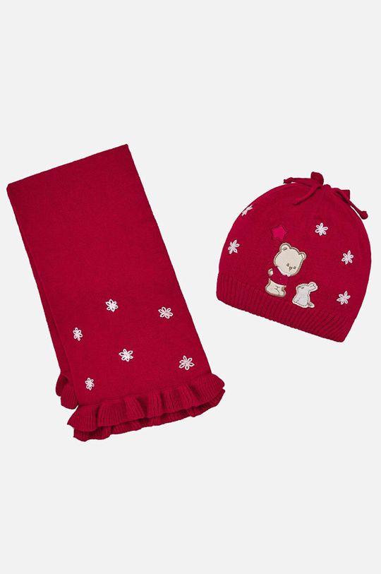 червен Mayoral - Детска шапка и шал 80-92 cm Момиче