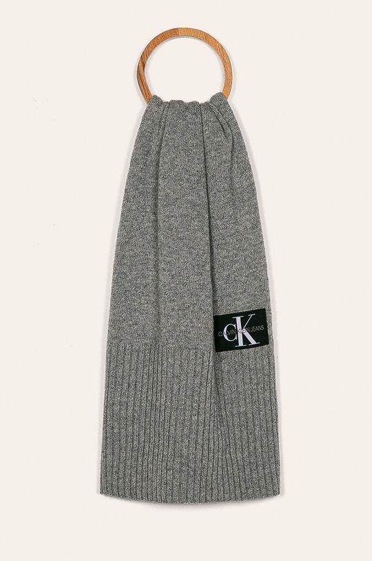 Calvin Klein Jeans - Čepice a šála šedá