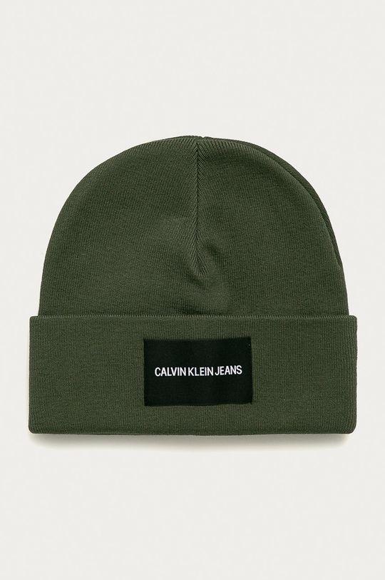 vojenská zelená Calvin Klein Jeans - Čiapka Pánsky