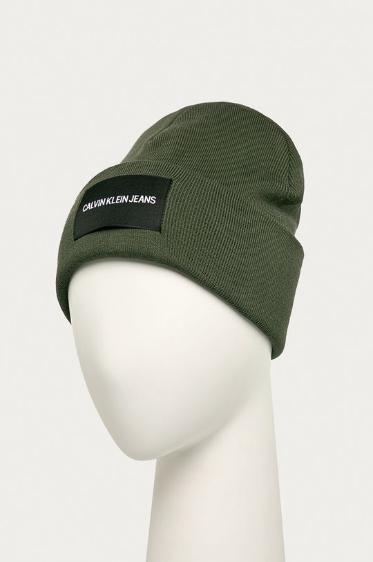 Calvin Klein Jeans - Čiapka vojenská zelená