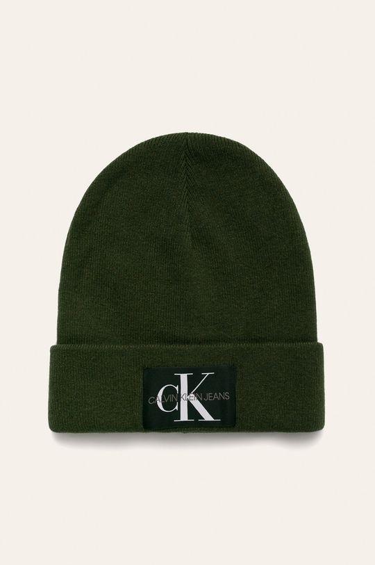 tlumená zelená Calvin Klein Jeans - Čepice Pánský