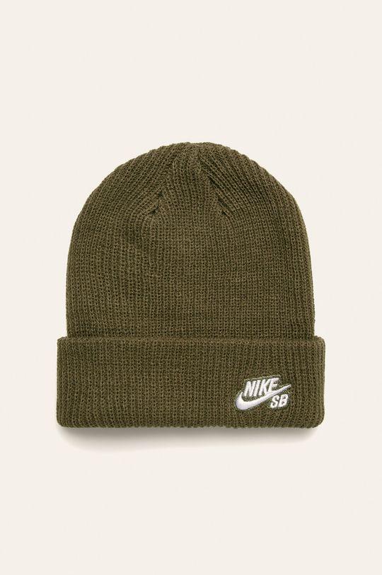tlumená zelená Nike - Dětska čepice Pánský