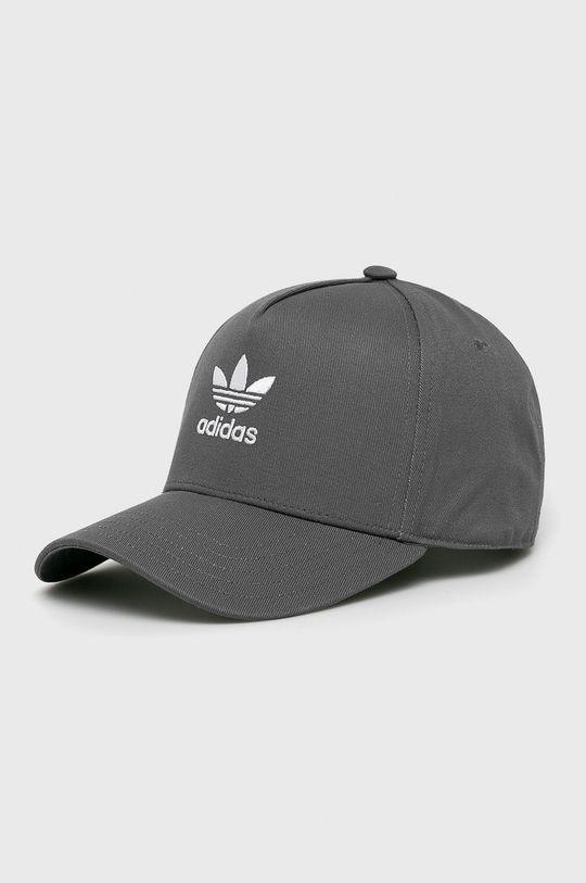 šedá adidas Originals - Čepice Pánský