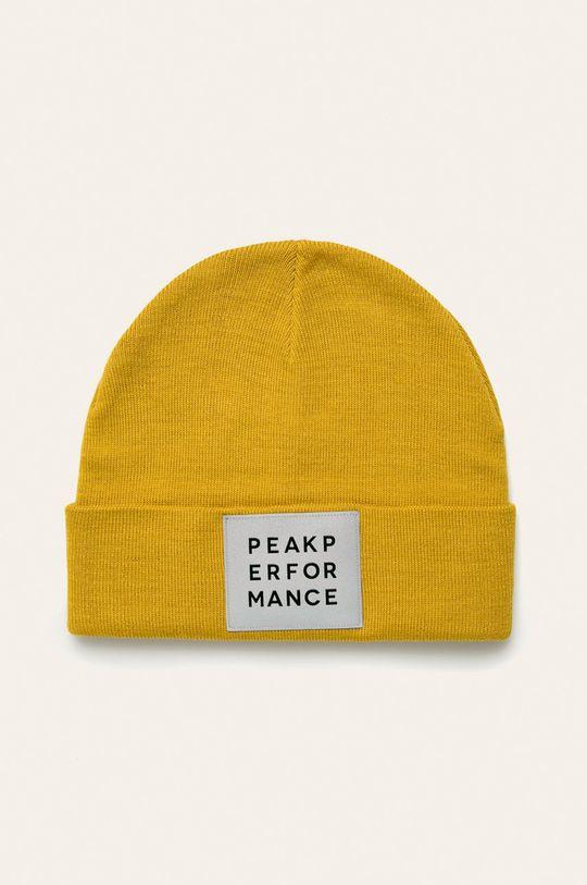 žlutá Peak Performance - Čepice Pánský