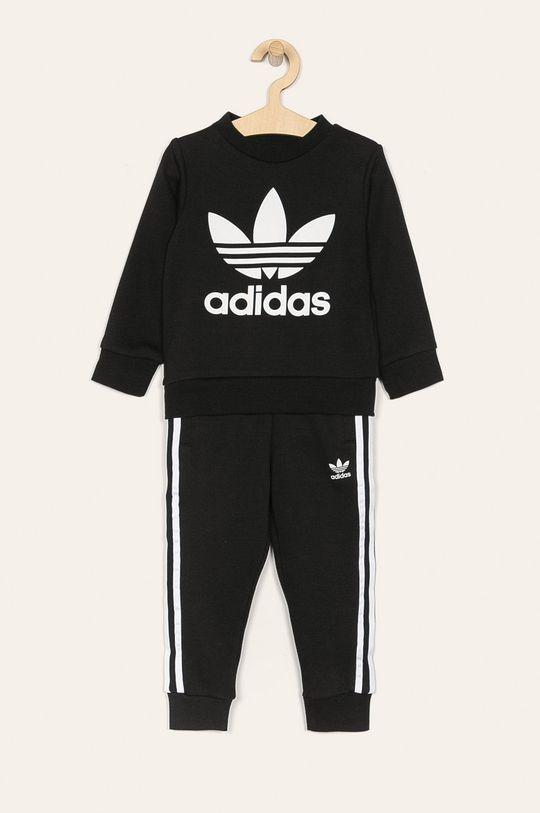 čierna adidas Originals - Detská tepláková súprava 104-128 cm Chlapčenský
