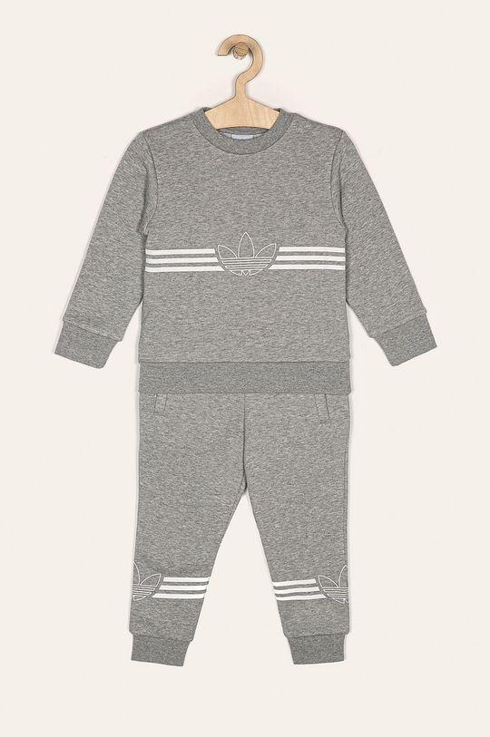 svetlosivá adidas Originals - Detská súprava 104-128 cm Dievčenský