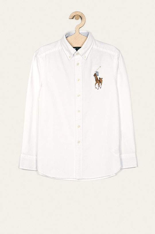 biela Polo Ralph Lauren - Detská košeľa 134-176 cm Chlapčenský