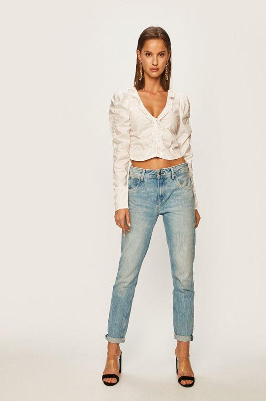 Pepe Jeans - Блуза Caroline x Dua Lipa бял