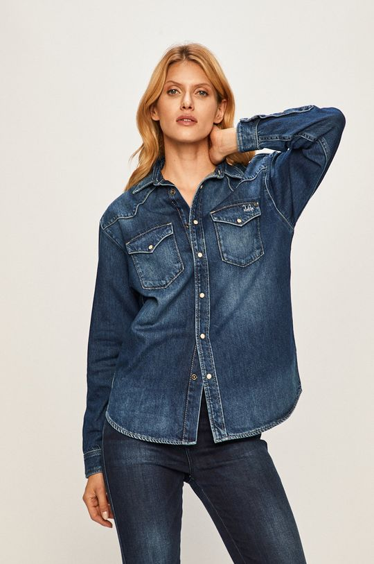 albastru Pepe Jeans - Camasa Bliss x Dua Lipa De femei