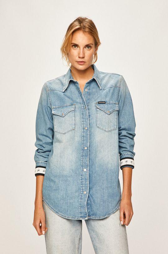 modrá Calvin Klein Jeans - Košeľa Dámsky