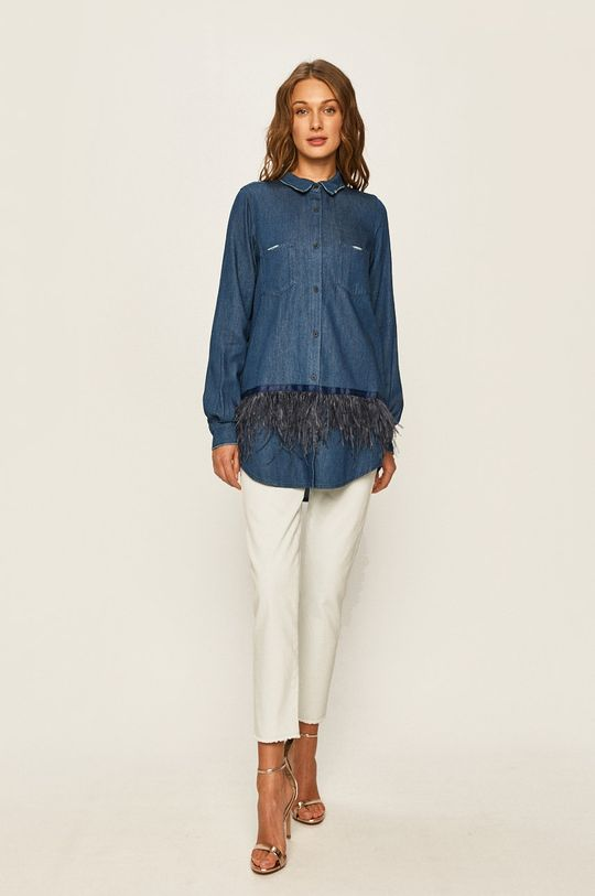Twinset - Rifľová košeľa modrá