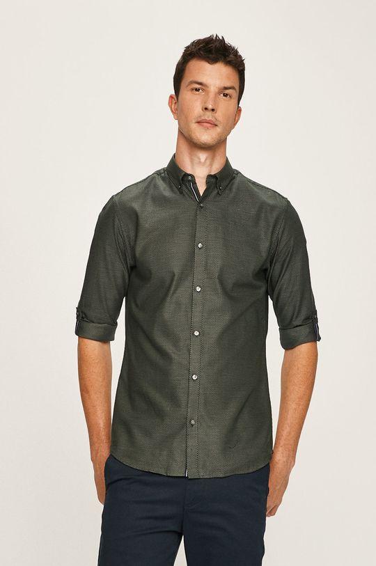 ocelová zelená Premium by Jack&Jones - Košile Pánský