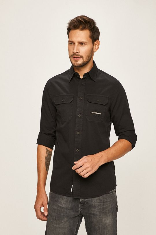 černá Calvin Klein Jeans - Košile Pánský