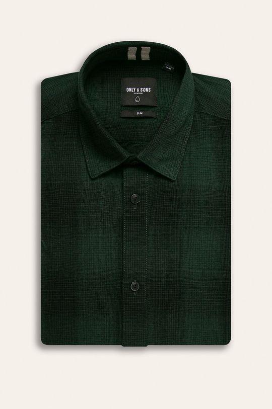 ocelová zelená Only & Sons - Košile Pánský