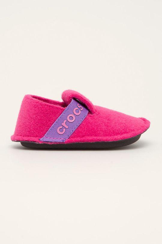ostrá růžová Crocs - Dětské papuče Dívčí