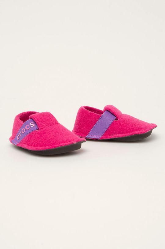 Crocs - Dětské papuče ostrá růžová