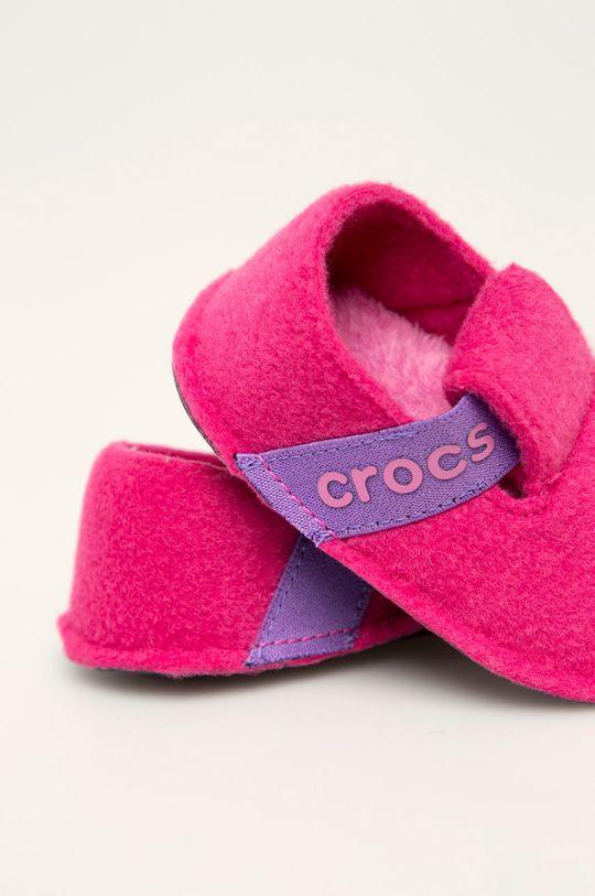 ostrá růžová Crocs - Dětské papuče