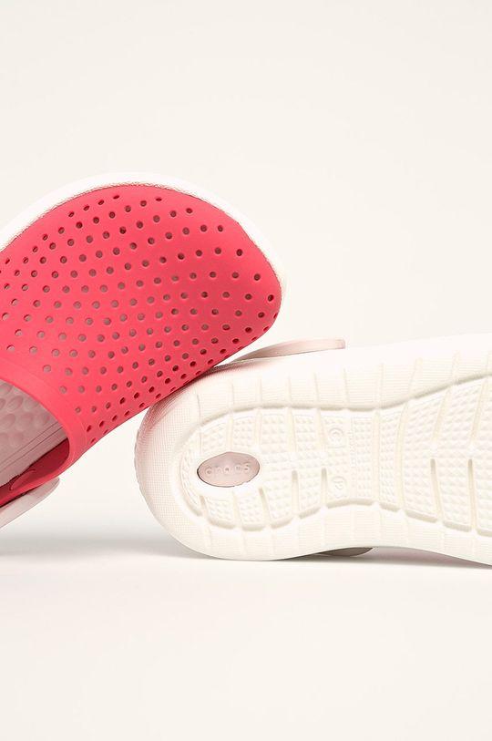 ostrá červená Crocs - Dětské pantofle