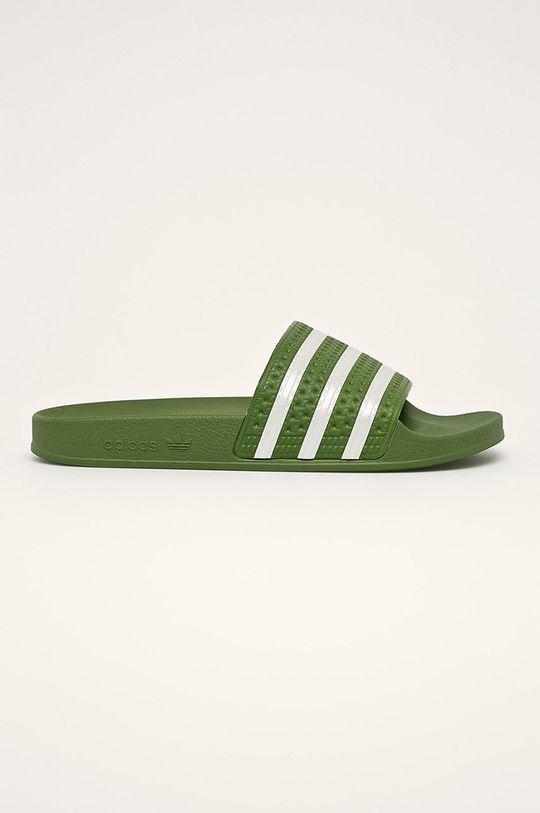 zelená adidas Originals - Pantofle Pánský