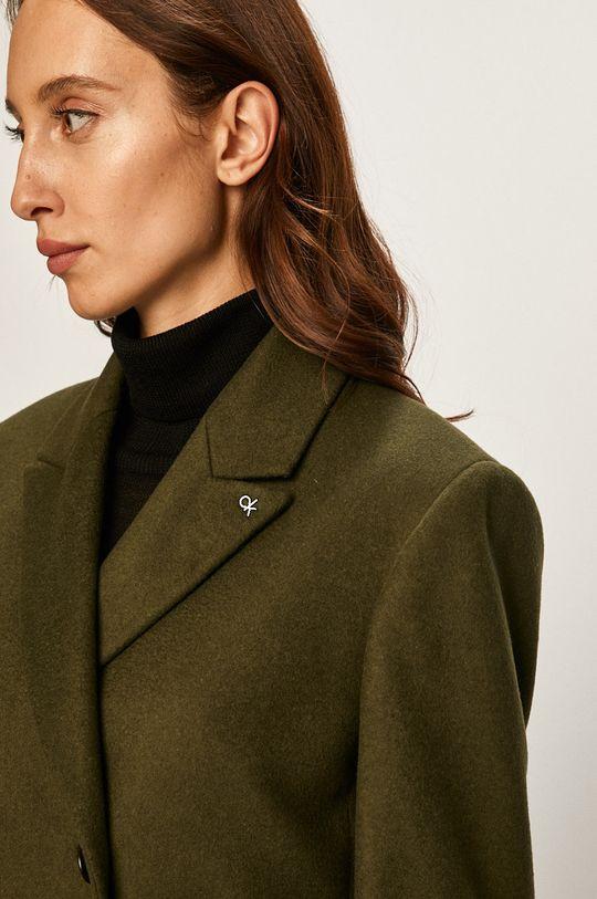 olivová Calvin Klein - Kabát
