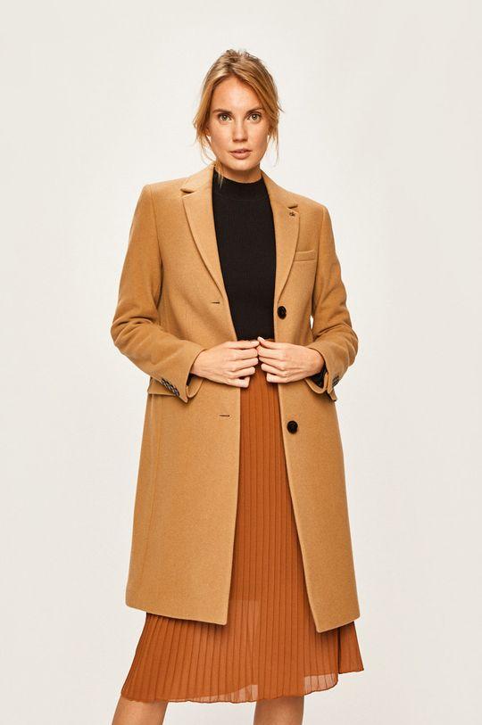 béžová Calvin Klein - Kabát Dámsky