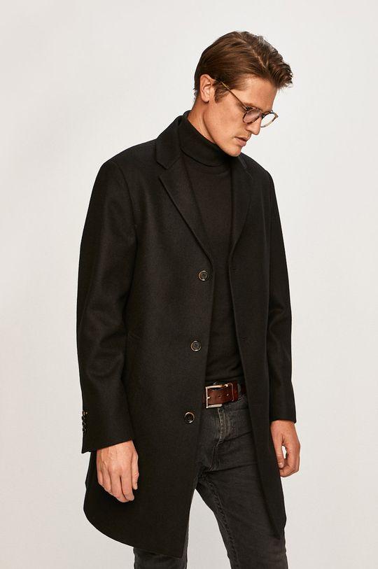 černá Pierre Cardin - Kabát Pánský