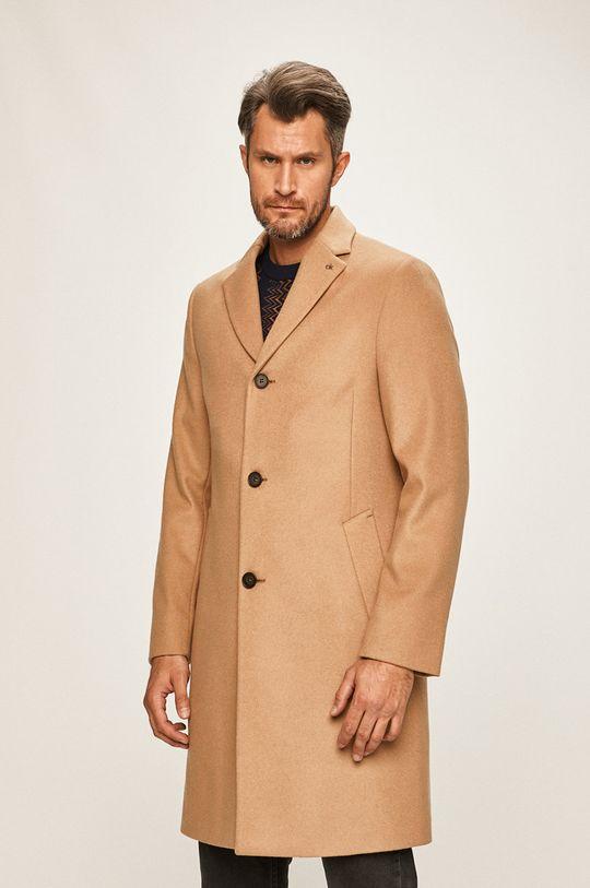 béžová Calvin Klein - Kabát