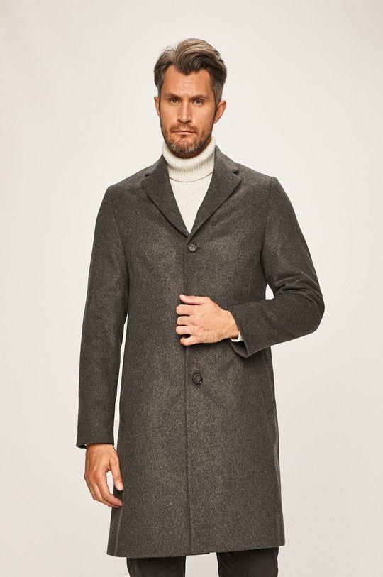 šedá Calvin Klein - Kabát Pánský