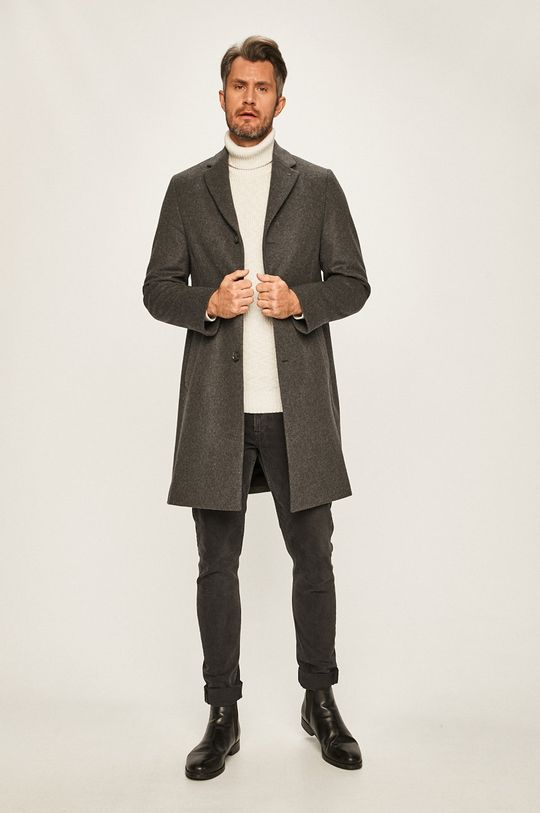 Calvin Klein - Kabát šedá