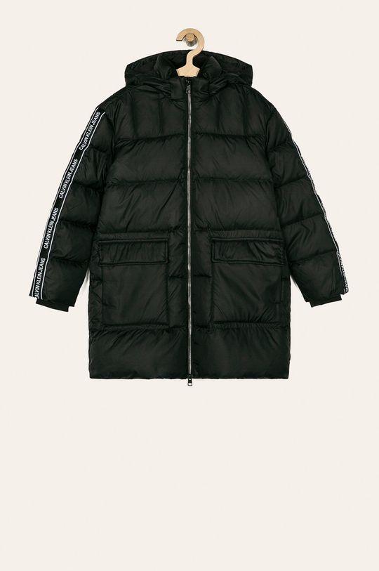 čierna Calvin Klein Jeans - Detská páperová bunda 140-176 cm Chlapčenský
