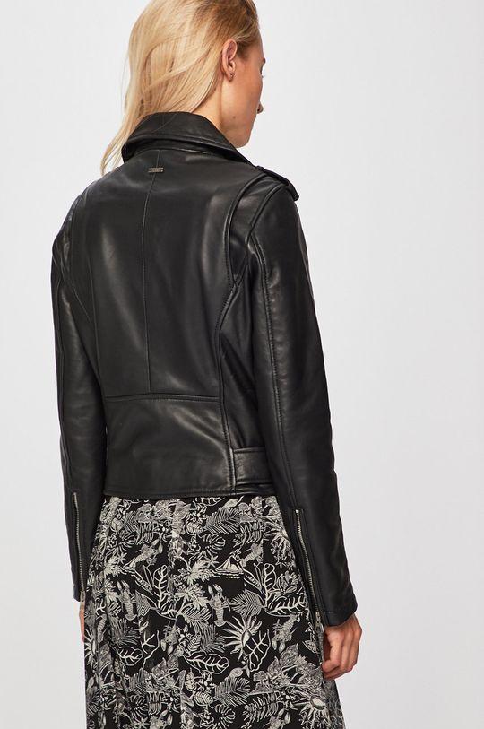 Pepe Jeans - Kožená bunda  Podšívka: 100% Polyester Hlavní materiál: 100% Přírodní kůže