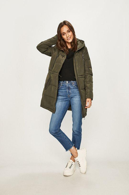 Vero Moda - Páperová bunda olivová
