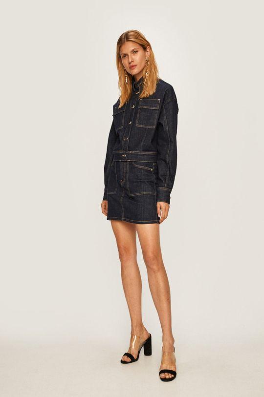 Pepe Jeans - Džínová bunda Peggy x Dua Lipa námořnická modř