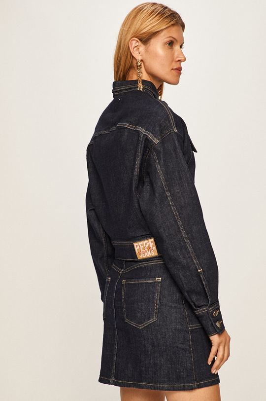 Pepe Jeans - Džínová bunda Peggy x Dua Lipa Hlavní materiál: 94% Bavlna, 2% Elastan, 4% Polyester