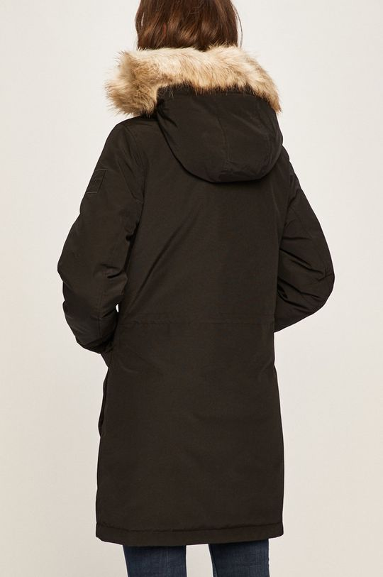 Calvin Klein Jeans - Parka de puf Captuseala: 100% Poliamida Umplutura: 30% Pene, 70% Puf Materialul de baza: 17% Bumbac, 83% Poliester   Blanita artificiala: 53% Acril, 47% Modacril