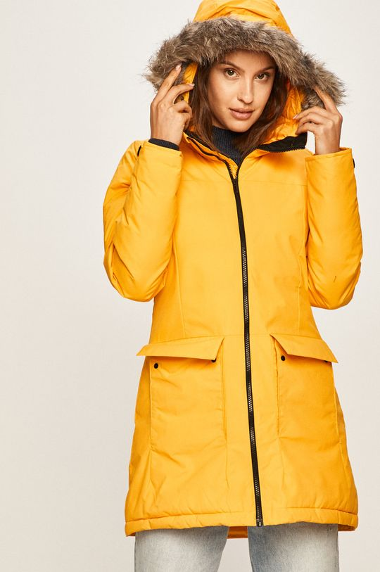 sárga adidas Performance - Rövid kabát