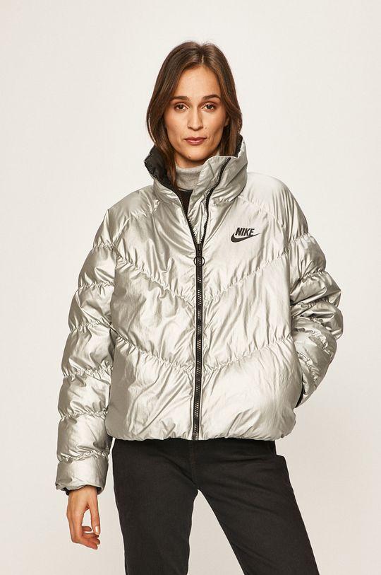 stříbrná Nike Sportswear - Bunda Dámský