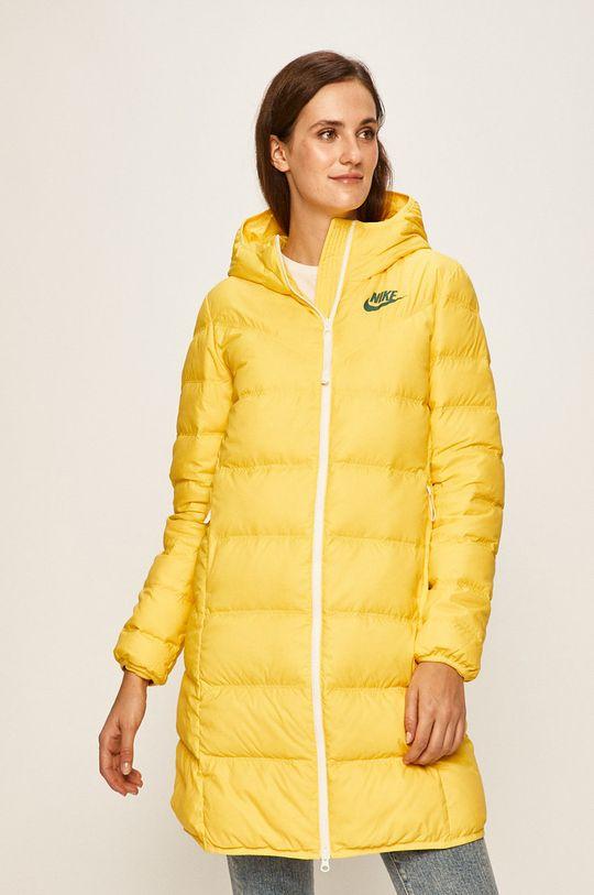 Nike Sportswear - Péřová bunda žlutá