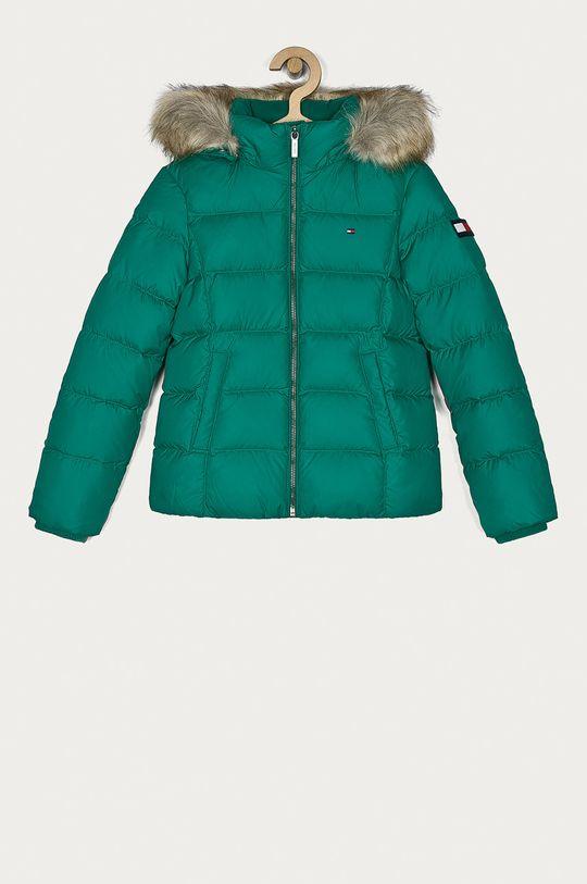 verde Tommy Hilfiger - Geaca de puf pentru copii 128-176 cm De fete