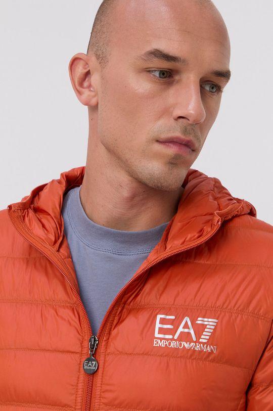 pomarańczowy EA7 Emporio Armani - Kurtka puchowa