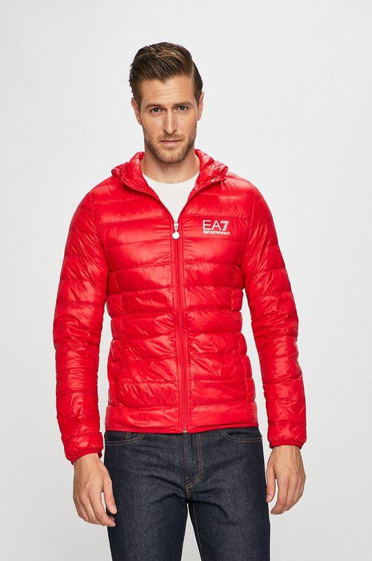 червоний EA7 Emporio Armani - Пухова куртка Чоловічий