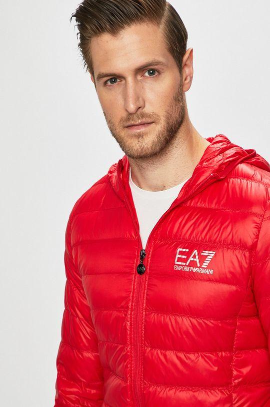 червоний EA7 Emporio Armani - Пухова куртка