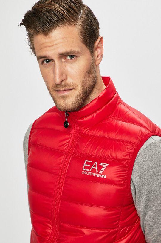 czerwony EA7 Emporio Armani - Bezrękawnik