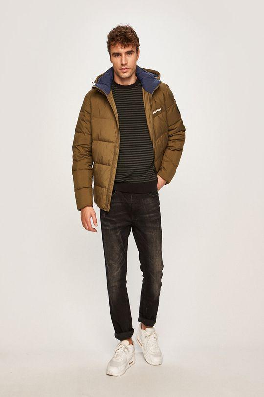 Calvin Klein Jeans - Péřová bunda zelená
