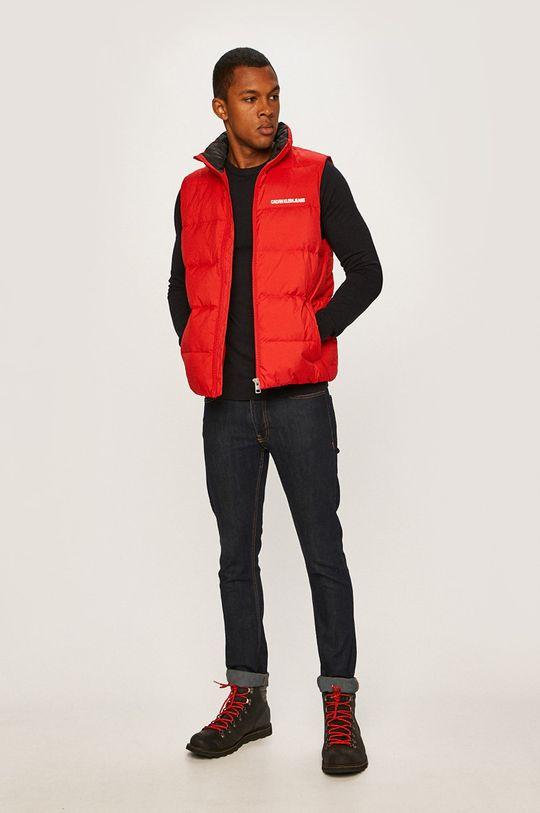 Calvin Klein Jeans - Vesta de puf rosu